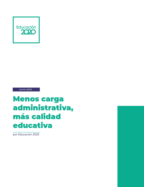 Menos carga administrativa, más calidad educativa