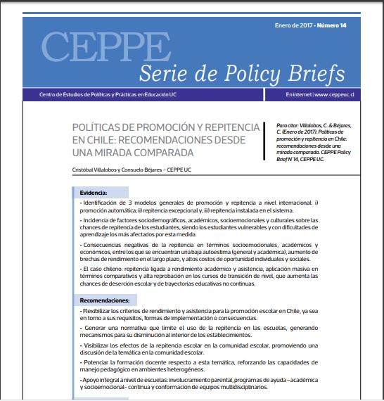 Políticas de promoción y repitencia en Chile: Recomendaciones desde una mirada comparada