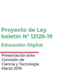 Foto de Presentación sobre proyecto de ley de Educación Digital