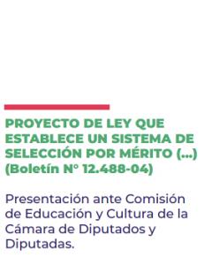 """Foto de Presentación por proyecto que busca reponer la selección por """"mérito"""""""