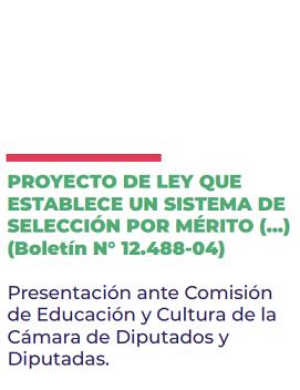 """Presentación por proyecto que busca reponer la selección por """"mérito"""""""