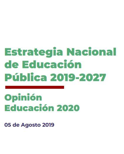 Presentación por la Estrategia de Ed. Pública